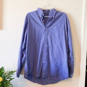 Southern Tide Blue Men's Button Down Stripe Shirt